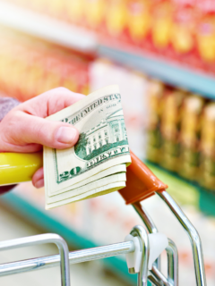 featured image showing shopping at dollar tree