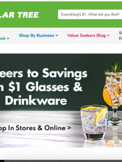 Featured image showing the home screen for ordering online from dollar Tree