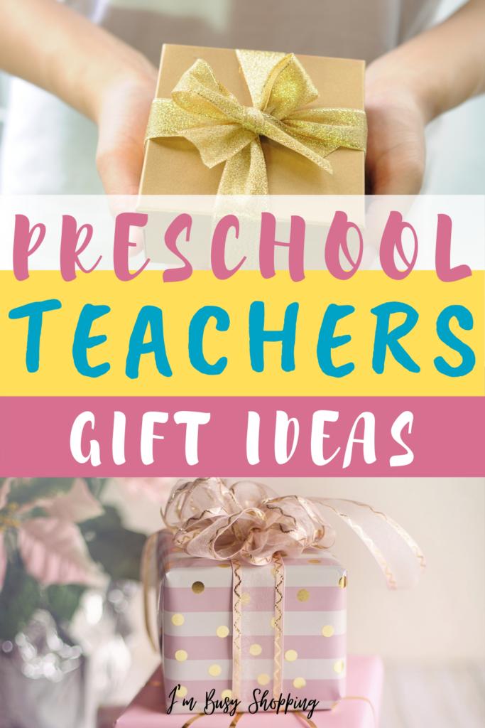 Pin showing the preschool teachers gift ideas.