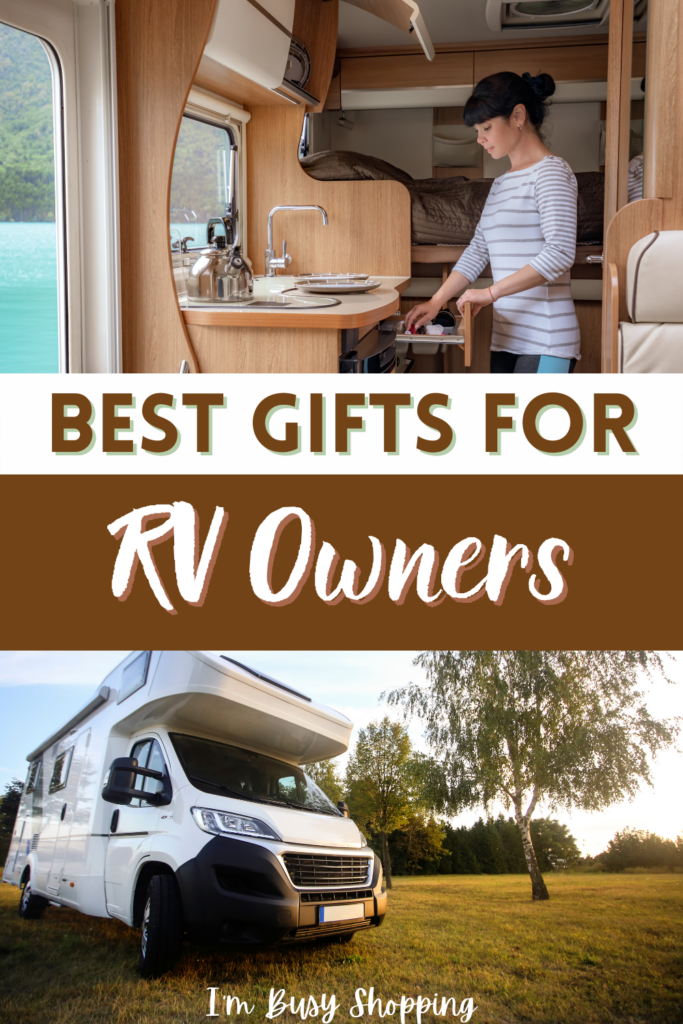 Pin showing the text Best Gifts for RV Owners