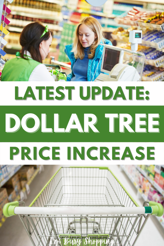 Pin showing the title Latest Update: Dollar Tree Ups Prices